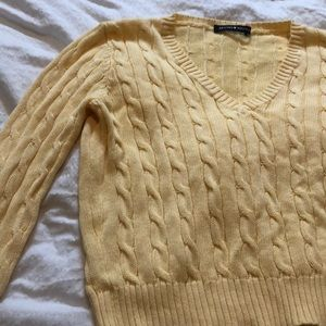 Cropped Yellow Brandy Melville Sweater